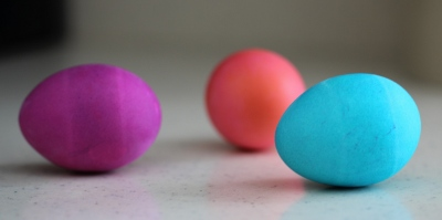Vibrant Gel Colored Easter Eggs