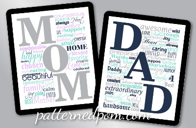 mother s day and father s day printable signs