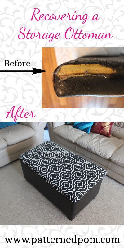 reupholtering a footstool