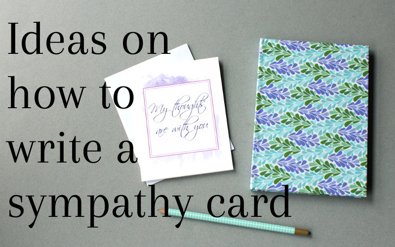 What to write in a sympathy card.